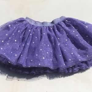NWOT purple skirt with stars